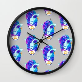 Alpaca Be RAD Wall Clock