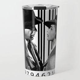 Casablanca inside a barcode Travel Mug