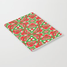 Red, Green and White Kaleidoscope 3375 Notebook