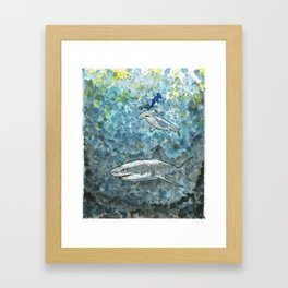 Feeding Frenzy Framed Art Print