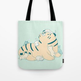 Tiger and Cats Tote Bag