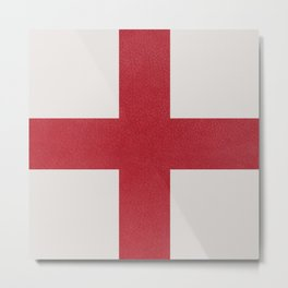 Red cross on white Metal Print