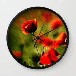 Poppy II. Wall Clock