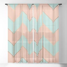 Marble Geometry 059 Sheer Curtain
