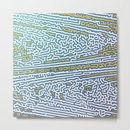 Ocean Waves and Golden Sands Metal Print
