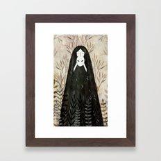 under the mask Framed Art Print
