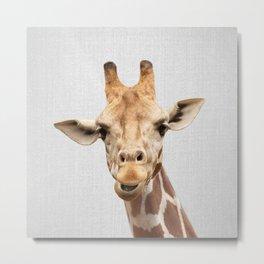 Giraffe 2 - Colorful Metal Print