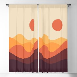 Geometric Landscape 21 Blackout Curtain