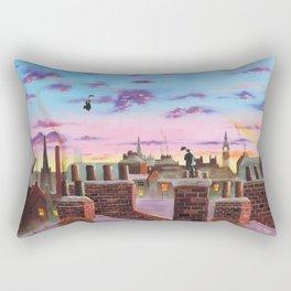 Mary Poppins and Bert Rectangular Pillow