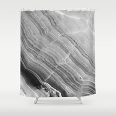 Shades of grey marble Shower Curtain