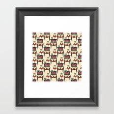 bedtime story pattern Framed Art Print