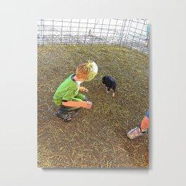 Petting Zoo Metal Print