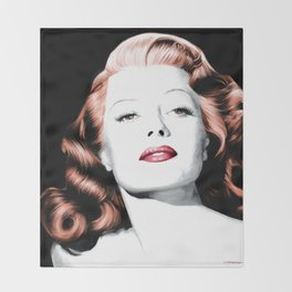 Rita Hayworth Large Size Portrait Throw Blanket