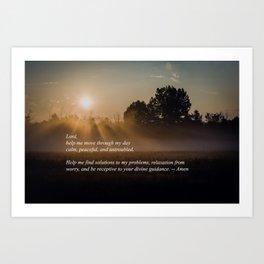 A Prayer For Tranquility (Sunrise) -- Art Print