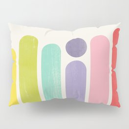 Rainbow Color Stripes Pillow Sham