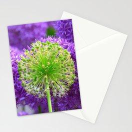 Violet green flower Stationery Cards