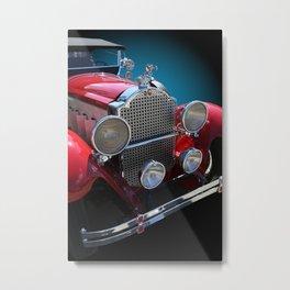 Vintage Red Touring Automobile Metal Print