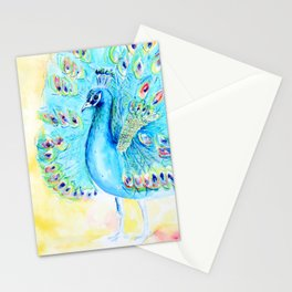 Peacock painting Stationery Cards