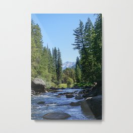 Water mountain views Metal Print