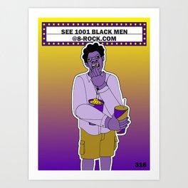 1001 Black Men--#316 Art Print