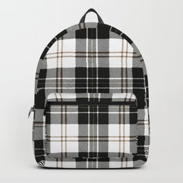 Rustic Plaid Pattern: Brown Backpack