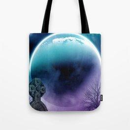 Funeral Under Moonlight Tote Bag