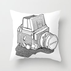 Mamiya Throw Pillow
