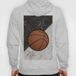 Basketball Stars and Court Team Sports Design Hoody