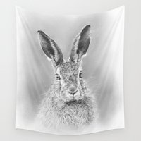 hare Wall Tapestries featuring Hare by Mark Ferris