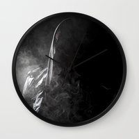 anonymous Wall Clocks featuring ANONYMOUS by vlphotography