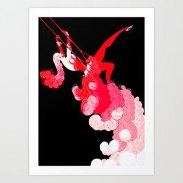 """Art Deco Illustration """"Trapeze"""" by Erté Art Print"""