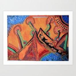 """ the mountain "" Art Print"
