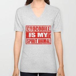 Amazing Crocodile Design Unisex V-Neck