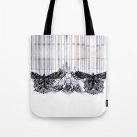 insects Tote Bags featuring insects by Alexandra Tamas
