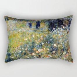 Auguste Renoir Femme avec parasol dans un jardin Rectangular Pillow