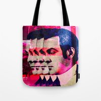 drunk Tote Bags featuring Drunk by Cs025