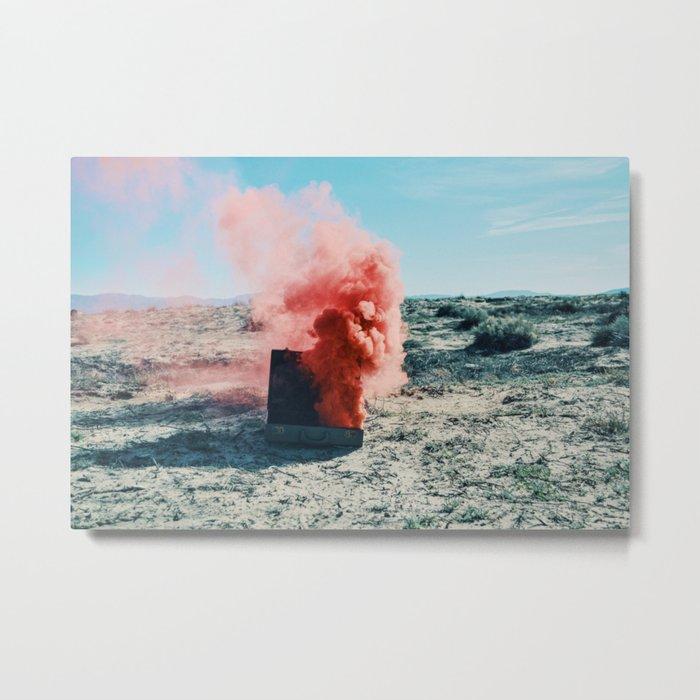 PINK SMOKE - SUIT CASE Metal Print