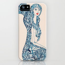 Portrait of a Mermaid iPhone Case