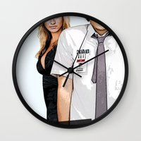 chuck Wall Clocks featuring Chuck Chuck by SyafSyaf