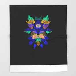 Neon Rorschach II Throw Blanket