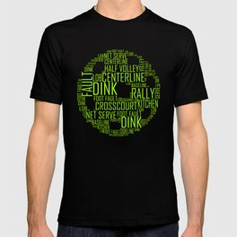 Pickleball Ball Art Words T-shirt