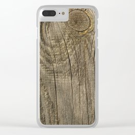 Texture #1 Wood Clear iPhone Case