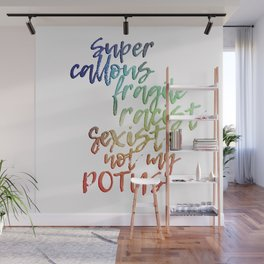 The Bigliest Word You've Ever Heard! Bright Rainbow Wall Mural