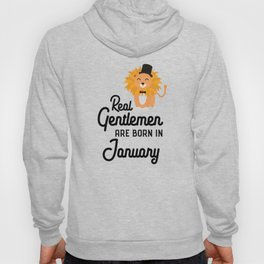 Real Gentlemen are born in January T-Shirt Dcwlx Hoody