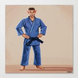 Karate Elf Canvas Print