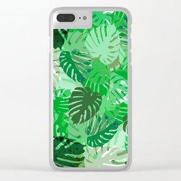 Emerald Jungle Clear iPhone Case
