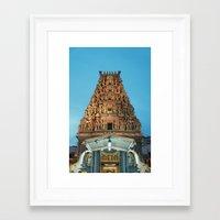 hindu Framed Art Prints featuring HINDU TEMPLE by JChrst