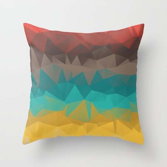 Tricolors Throw Pillow