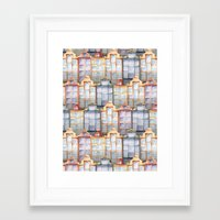 amsterdam Framed Art Prints featuring  Amsterdam by Julia Badeeva