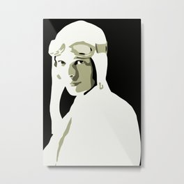 Silhouette vector Art: Amelia Metal Print